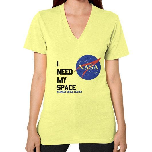 I Need My Space (Nasa) V-Neck (on woman)