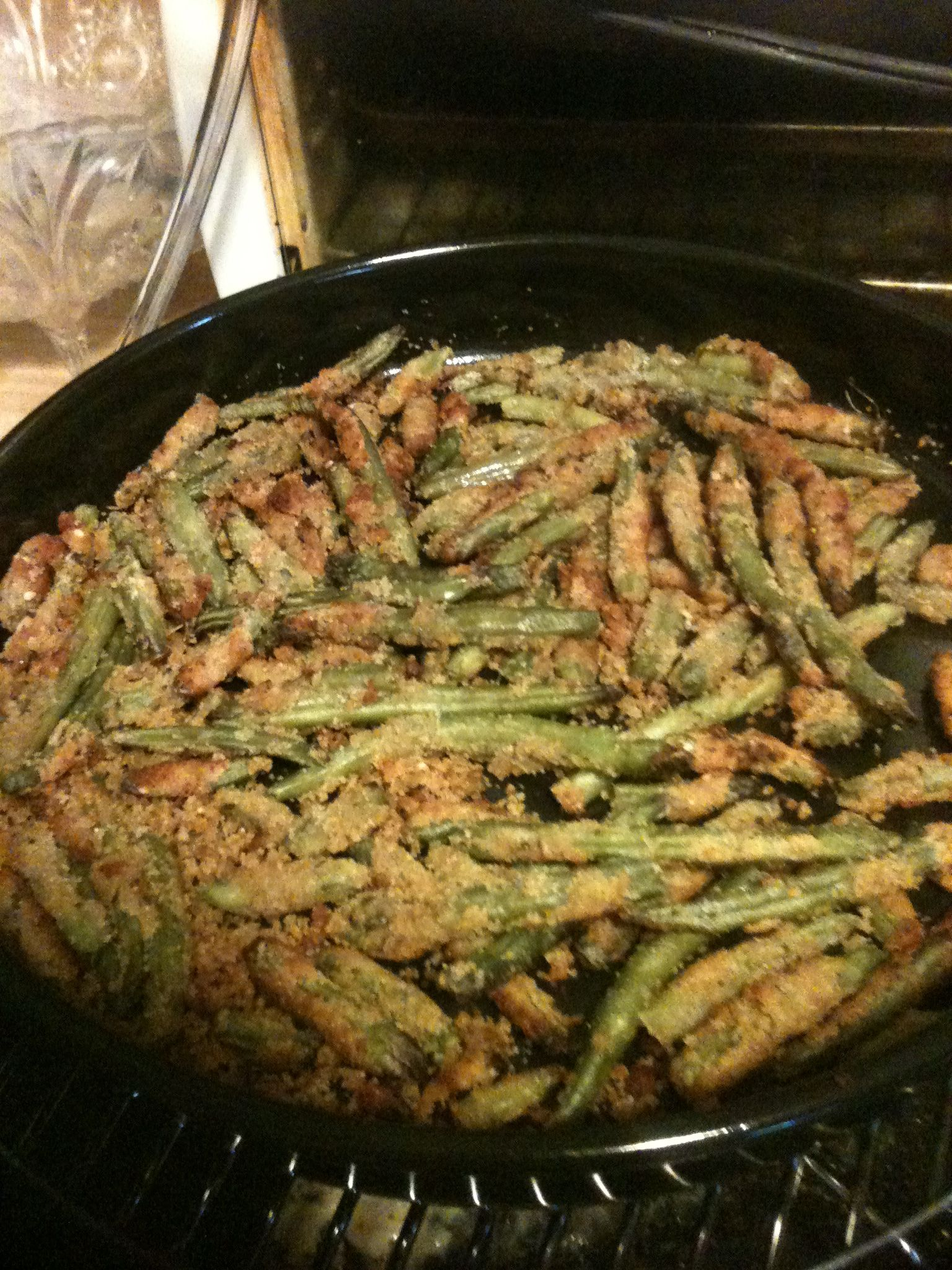 NuWave Airfried green beans NU WAVE OVEN COOKING
