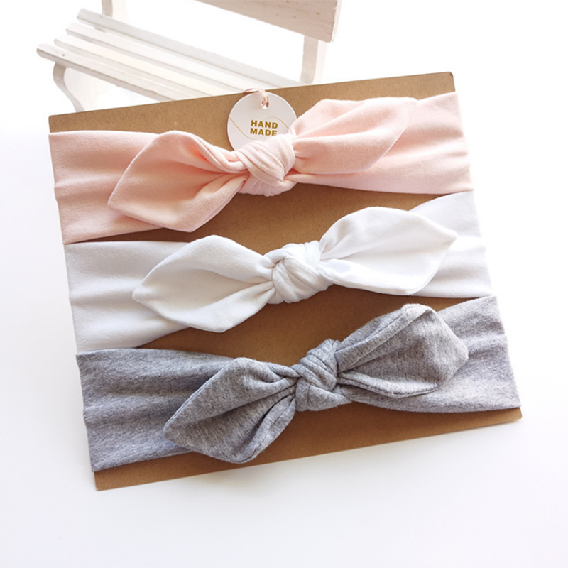3-pack Pretty Bowknot Decor Headband Set for Baby Girl #babyhairaccessories