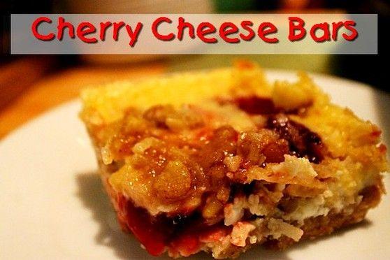 Cherry Cheese Bars  http://www.momspantrykitchen.com/cherry-cheese-bars.html