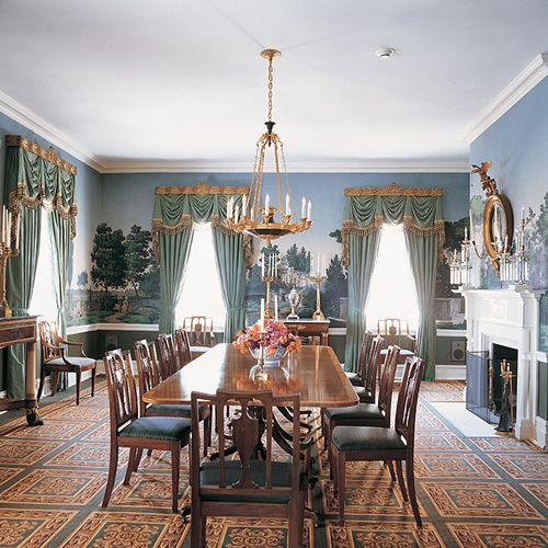 Drake Design Associates Nyc Gracie Mansion Formal Dining Room Entrancing Mansion Dining Rooms Design Decoration