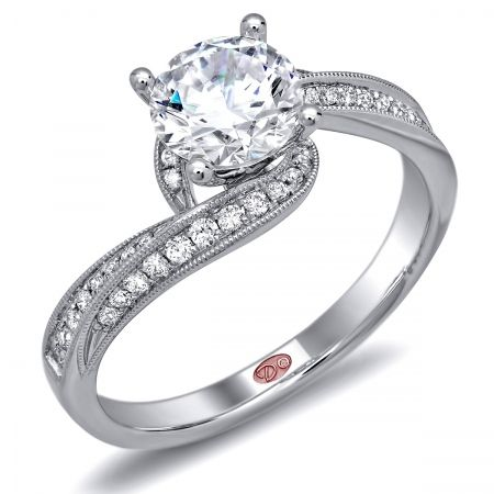 DemarcoJewelry.com  Available in White Gold 18KT and Platinum. 0.21 RDCapture her grace and endless beauty with this confident yet elegant design. We have also incorporated a unique pink diamond with every single one of our rings, symbolizing that hidden, unspoken emotion and feeling one carries in their heart about their significant other. This is not just another ring, this is a heirloom piece of jewelry.   Demarco Bridal Engagement Ring.