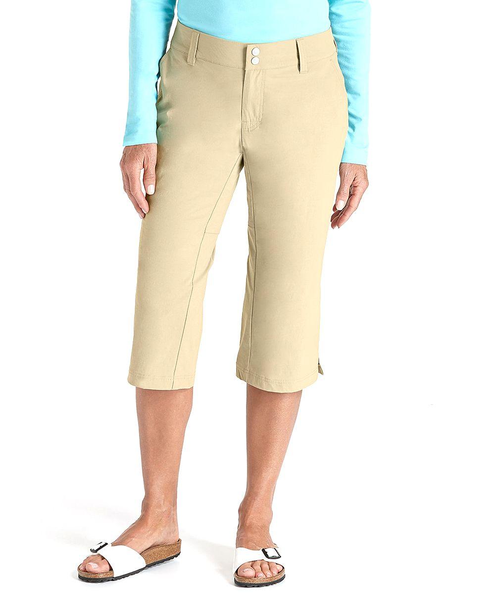 Washed Tan Travel Capri Pants | Capri, Pants and Travel
