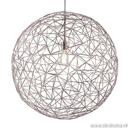 moderne design hanglamp bol eettafel interieur