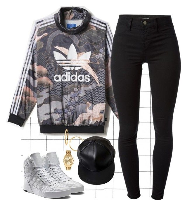"""No flex zone"" by hosana-tsarnaev on Polyvore featuring J Brand, Michael Kors, Panacea, women's clothing, women, female, woman, misses, juniors and adidas"