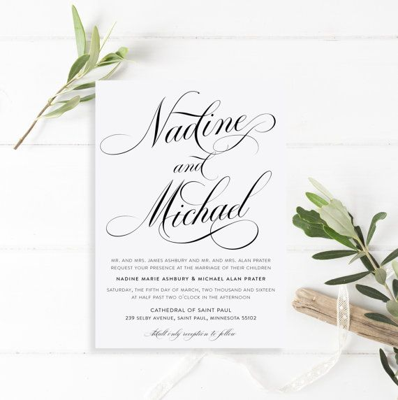 Printable Wedding Invitation Suite  The by MatildaRuthDesigns