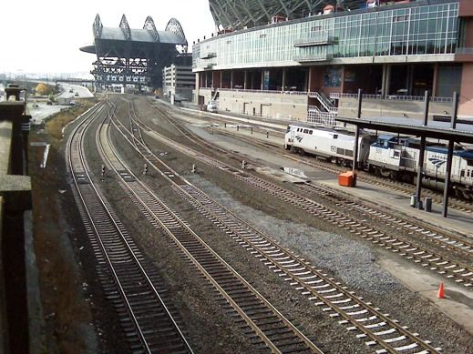 This Photo Taken From Fourth Avenue Looking South Shows The Two New Main Line Tracks To The Left And The Series Of Connecting Tracks Tha Amtrak Street Photo
