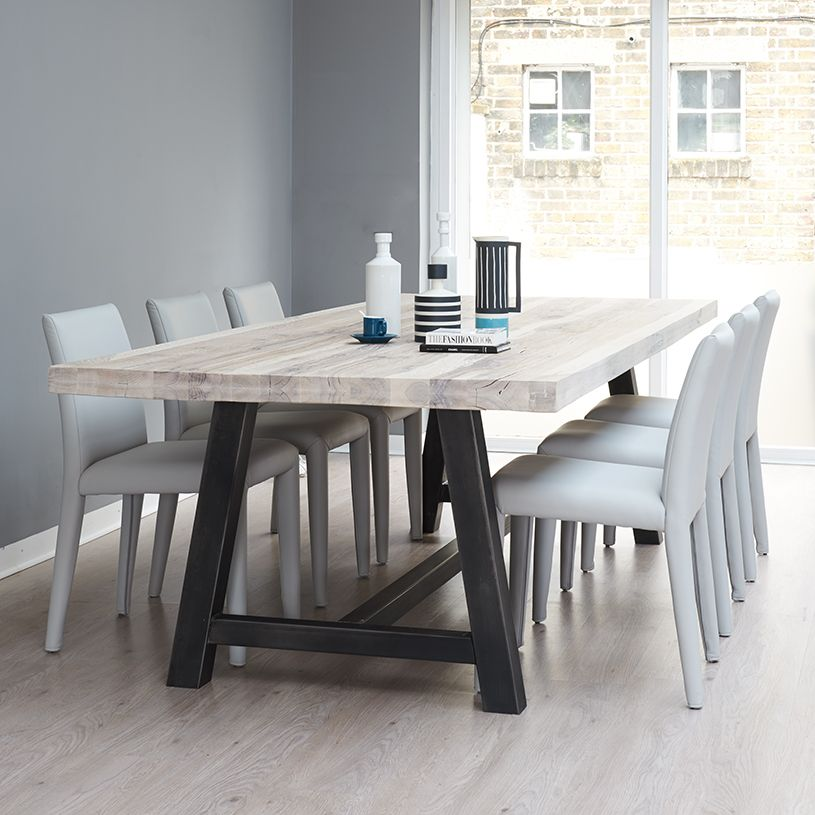 Baron Solid Oak Dining Room Table Legs Metal Dining Table