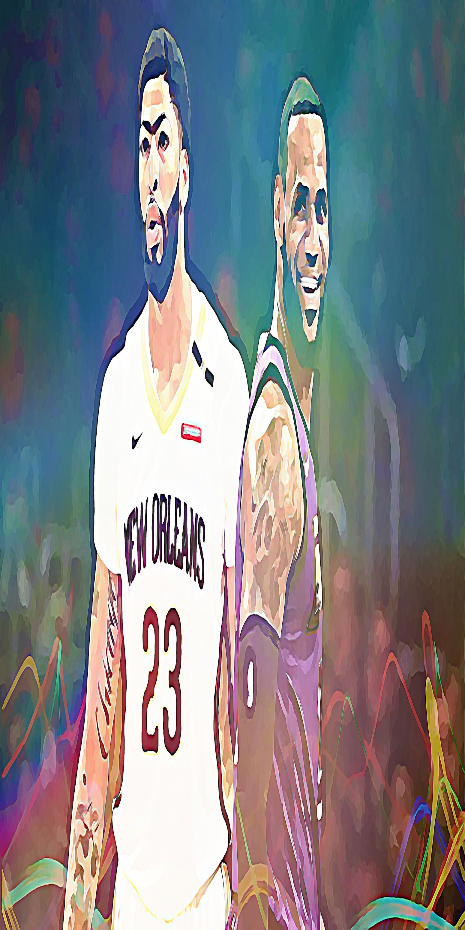 Lebron James Anthony Davis Lebron James Anthony Davis Nba Wallpapers