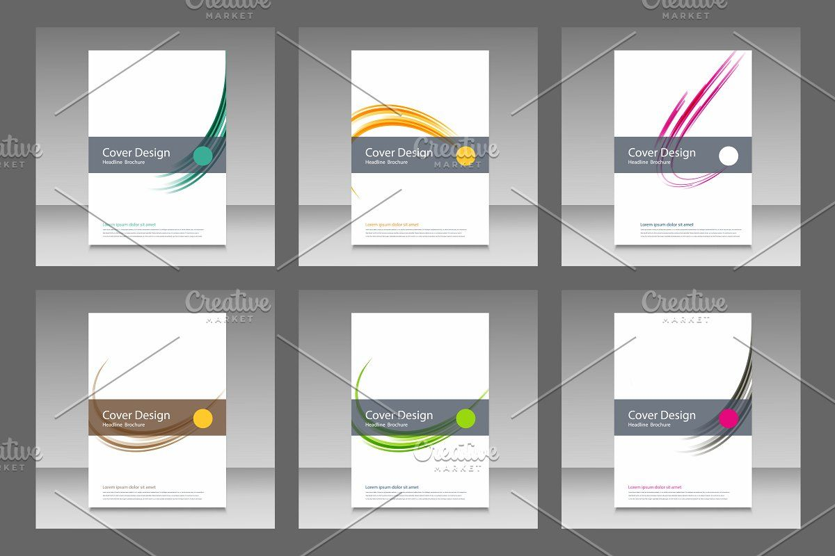 Abstract line brochure design Vol.2 , #ad, #includes#set#files#vector #affiliate