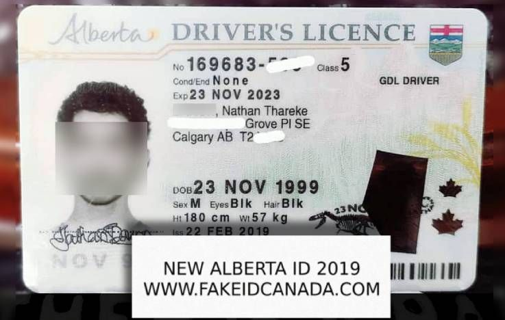Alberta Fake Id 89 Fakeidcanada Com Scannable Id Sale Now