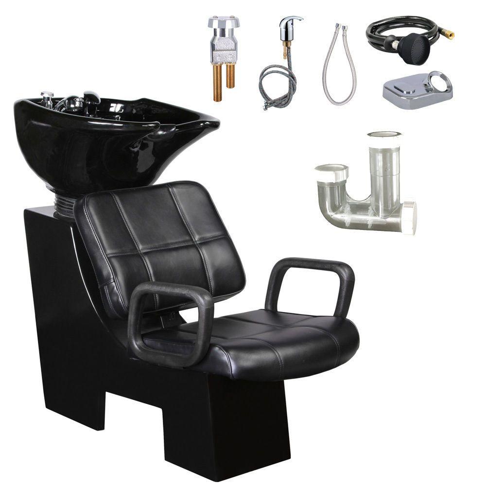 Salon Hair Washing Shampoo Backwash Bowl Unit Sink Chair