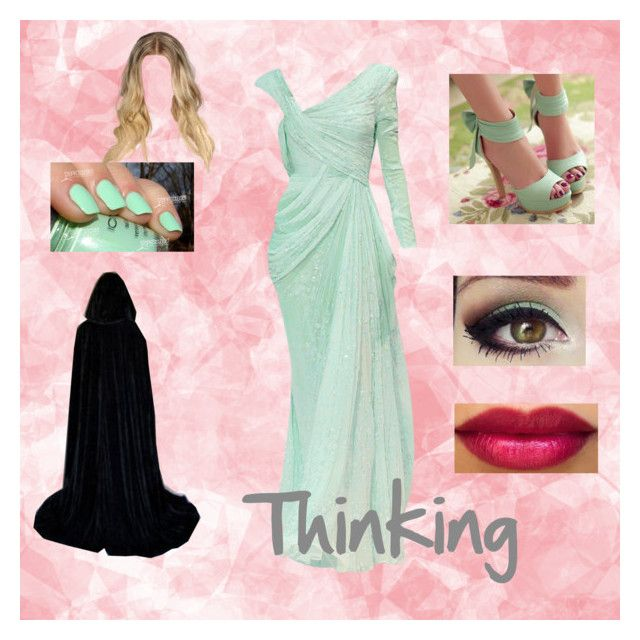 """""""Thinking"""" by o-hugsandkisses-x ❤ liked on Polyvore featuring moda, Elie Saab e claire's"""