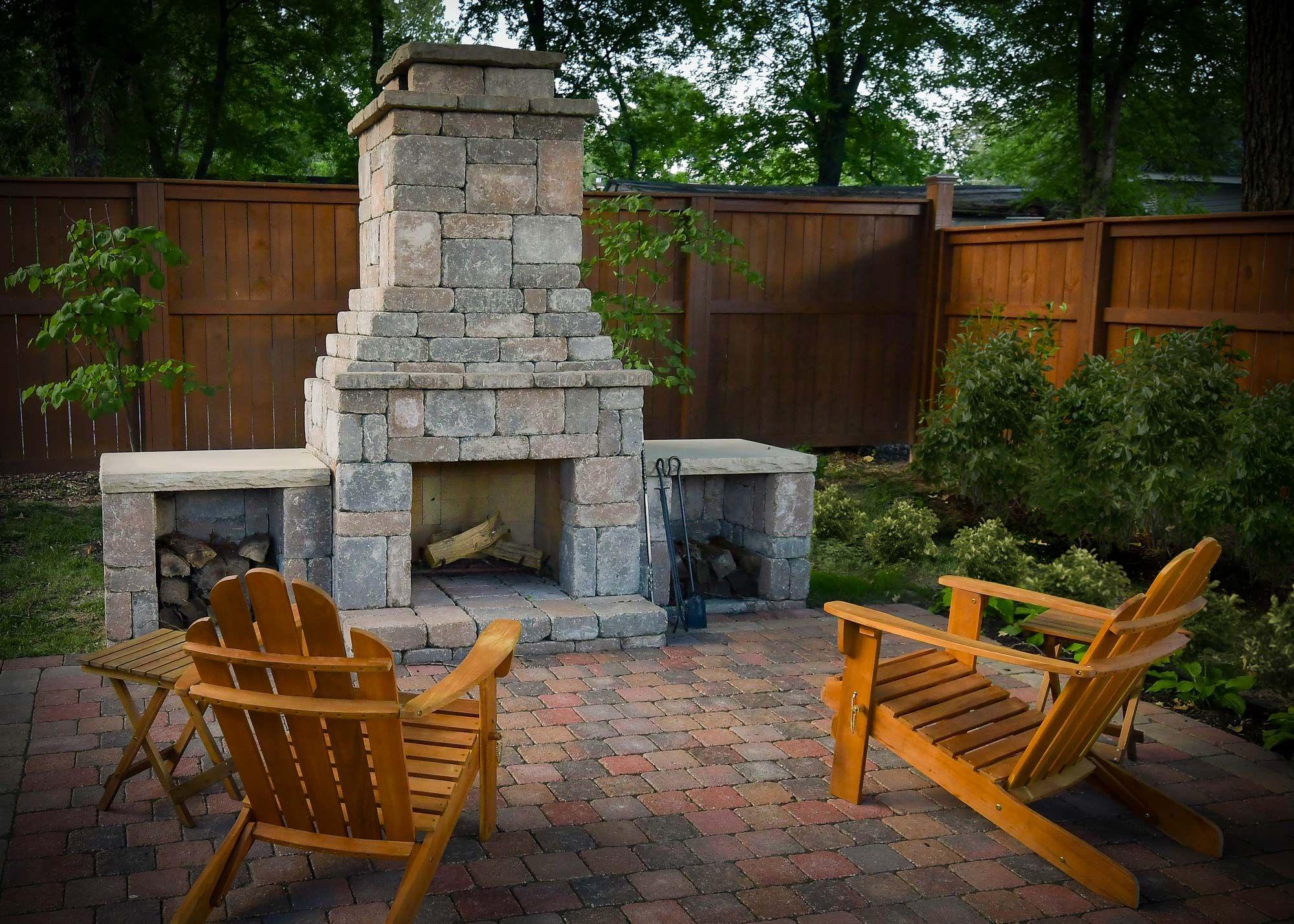 romanstone patio scene yard outdoor kitchen pinterest