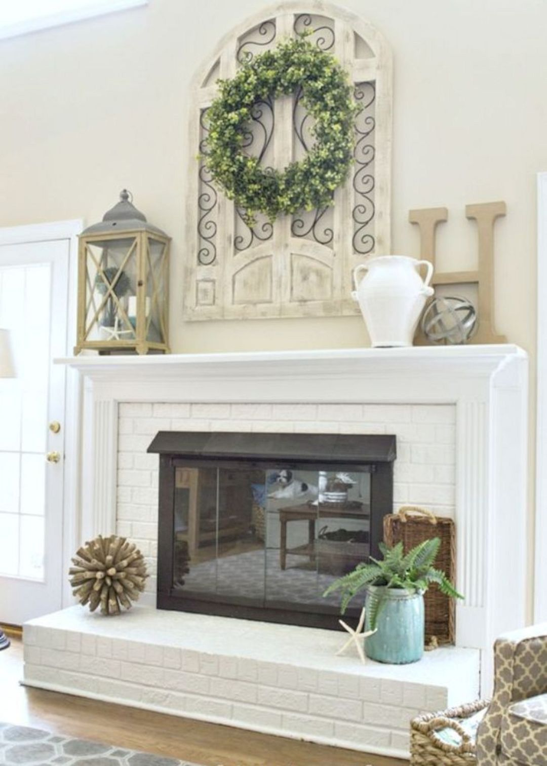 Brick Fireplace With Wood Mantel Html Amazing Home Design 2019
