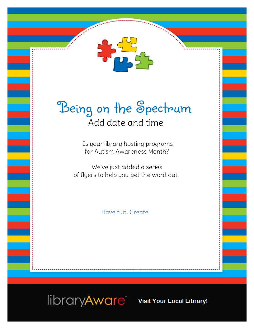 Is your library hosting programs for Autism Awareness ...