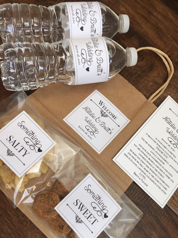 Welcome Bag Kit Wedding Sticker Hotel Bags Kits What Better Way To Show Your Reciation For Guests
