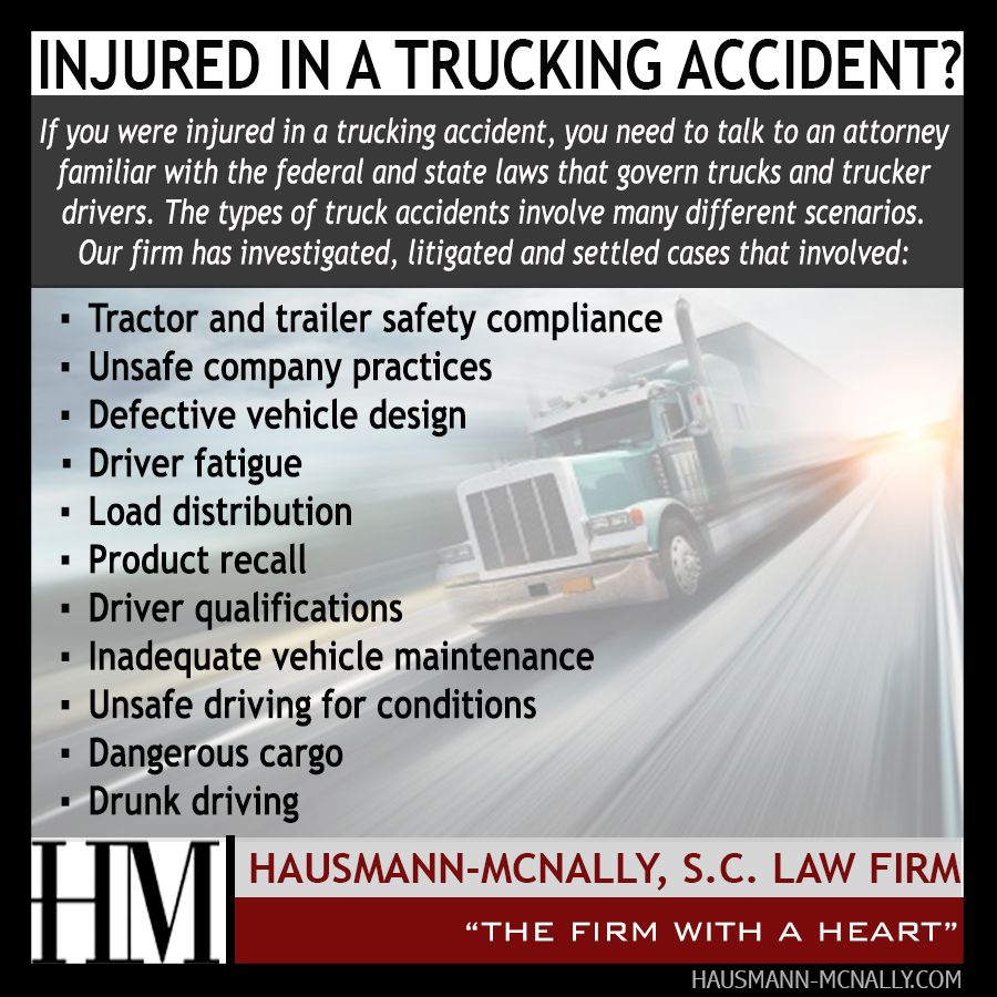 Trucking Accident Personalinjury Attorney Hausmannmcnally Hm