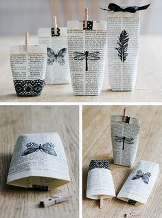 Photo of Make wrapping paper and pack gifts creatively #woodendiy