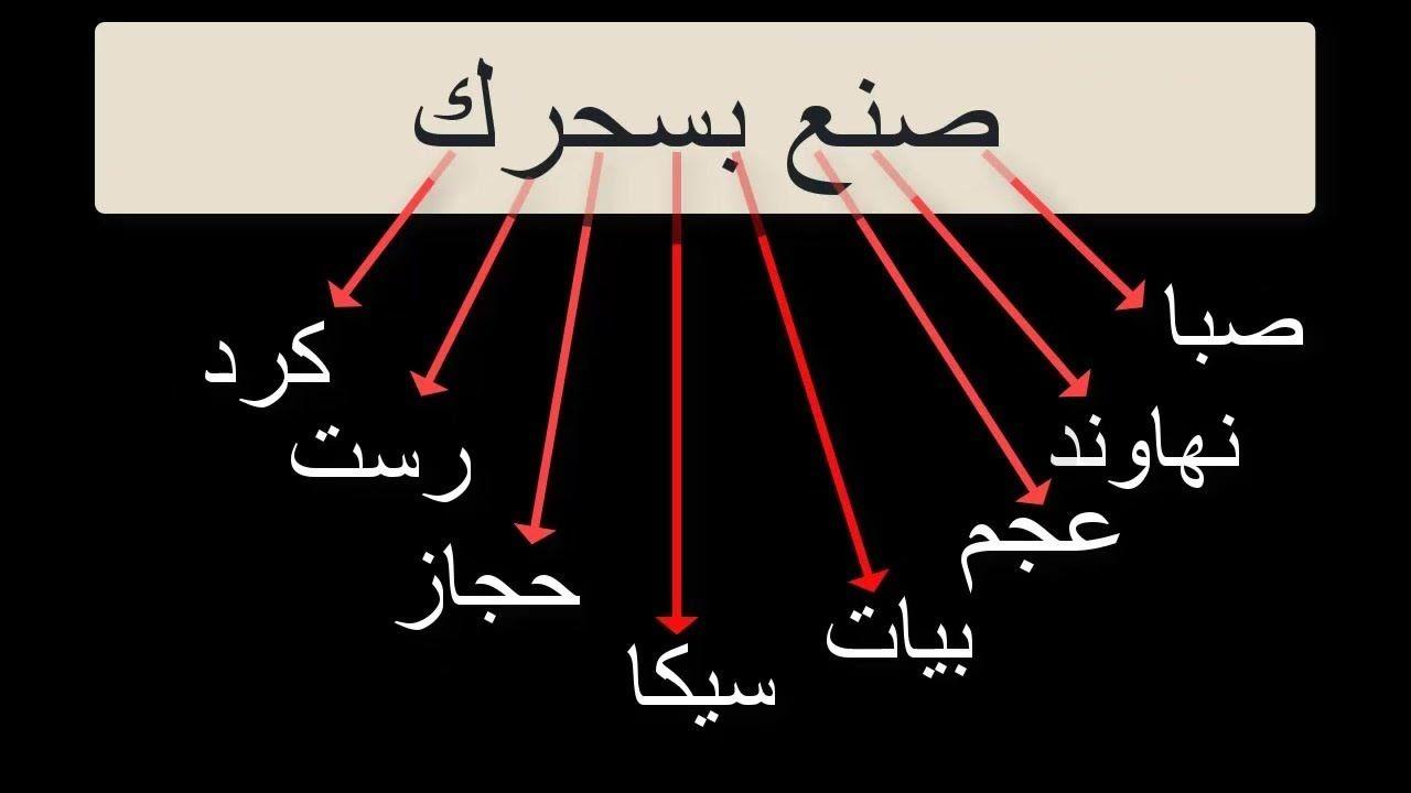 1 مقام الصبا وشرح لأسهل طريقة لحفظ اي مقام بسهولةجدا Maqam Saba إبداع Calligraphy Arabic Calligraphy