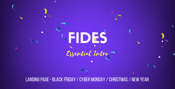 Fides - Essential Intro | Black Friday  | Cyber Monday | Christmas | Campaign Landing Page Template  ⠀  FIDES – ESSENTIAL INTRO Fides is an unique, essential intro teaser template with minimal typographic animations which would be perfect as landing pages for Black Friday, Cyber Monday, Christmas, Ne...  ⠀  #columns1 #animations #blackfriday #campaignintro #campaignpagetemplate #christmas #cybermonday #festivalseason #holidaydeals #landingpageintro #landingpagetemplate #newyear #promotemplate #