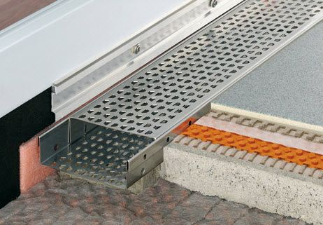 Discover All The Information About The Product Patio Drainage Channel /  Stainless Steel / With Grating SCHLÜTER® TROBA LINE   Schluter Systems And  Find ...