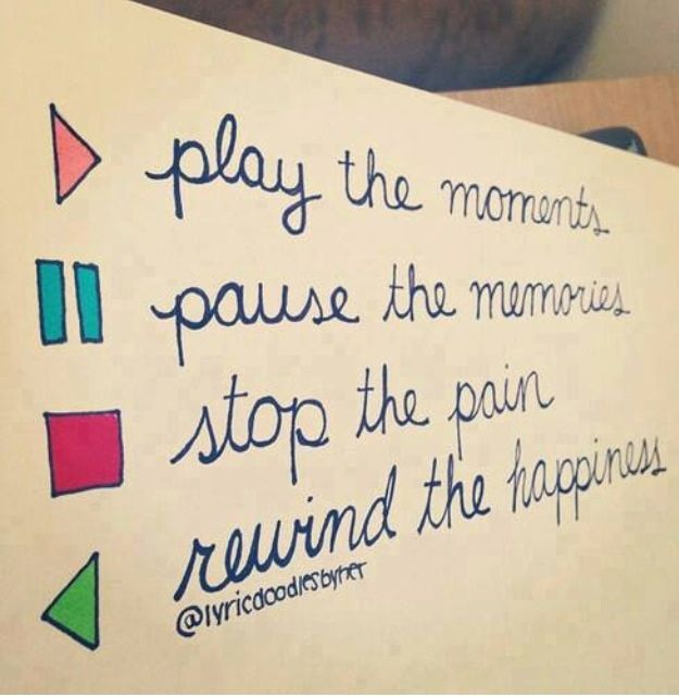 Love Quotes About Life: Play Pause Stop Rewind