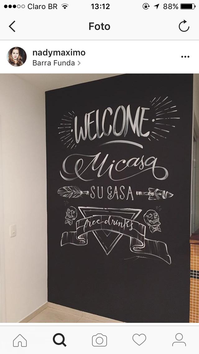 Paredes | Casa | Decor, Chalkboard e Home Decor