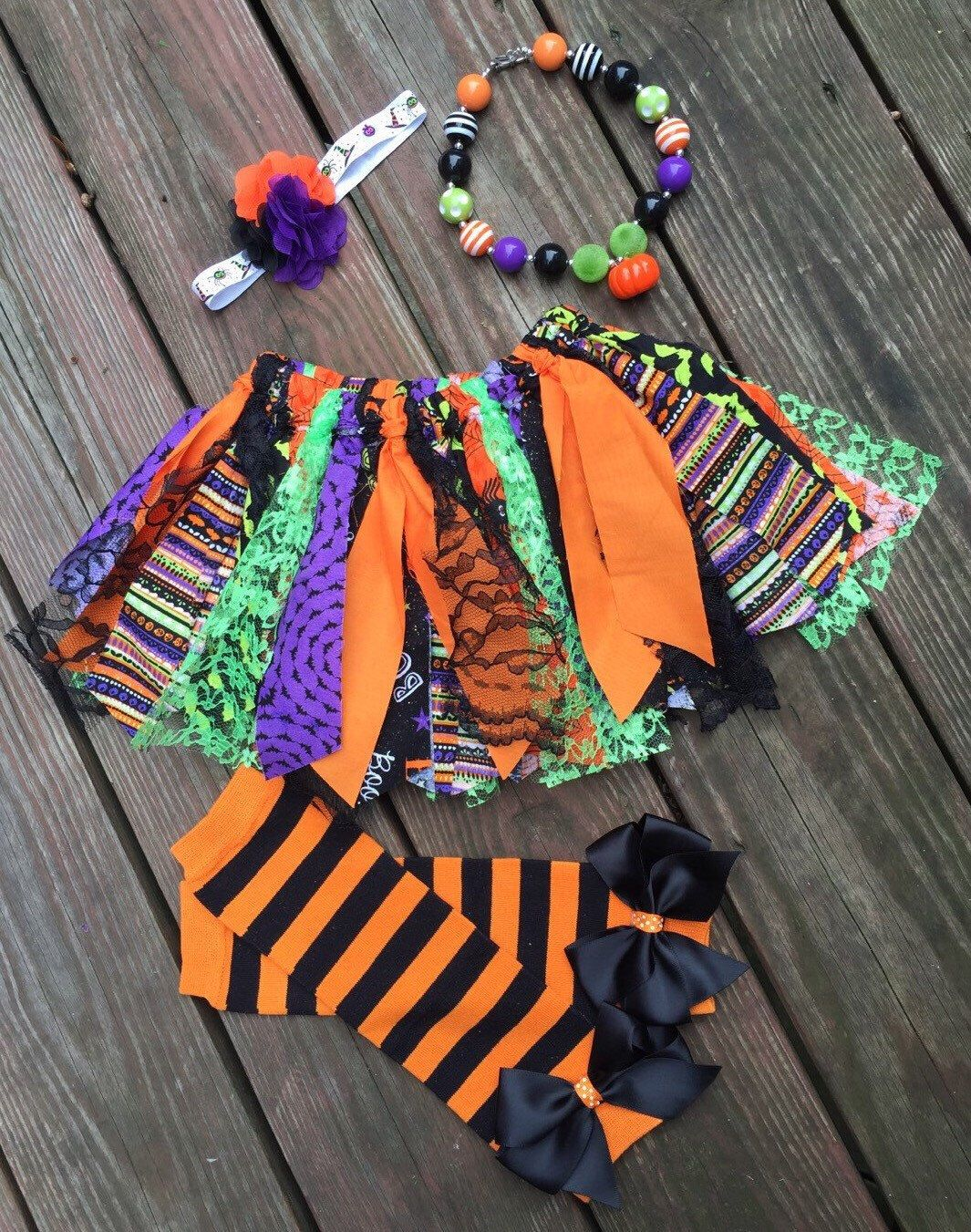 A personal favorite from my Etsy shop https://www.etsy.com/listing/250397432/halloween-scrappy-tutu-set-includes-all