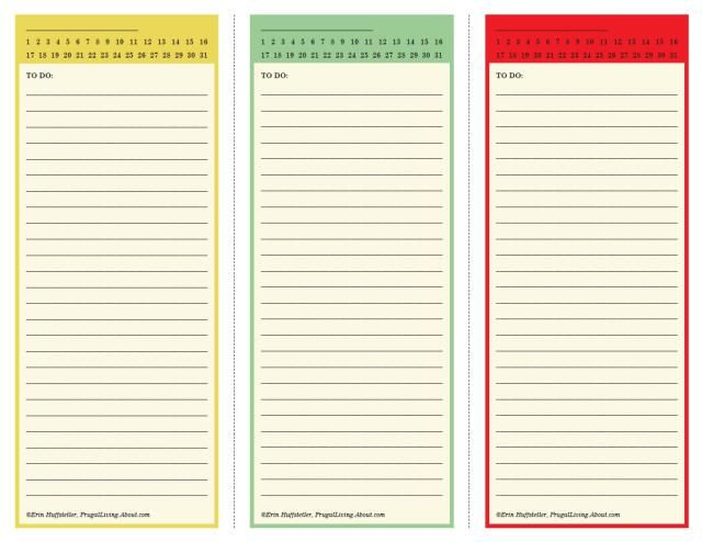 25 Printables to Help You Get Organized Printable Lists Banners