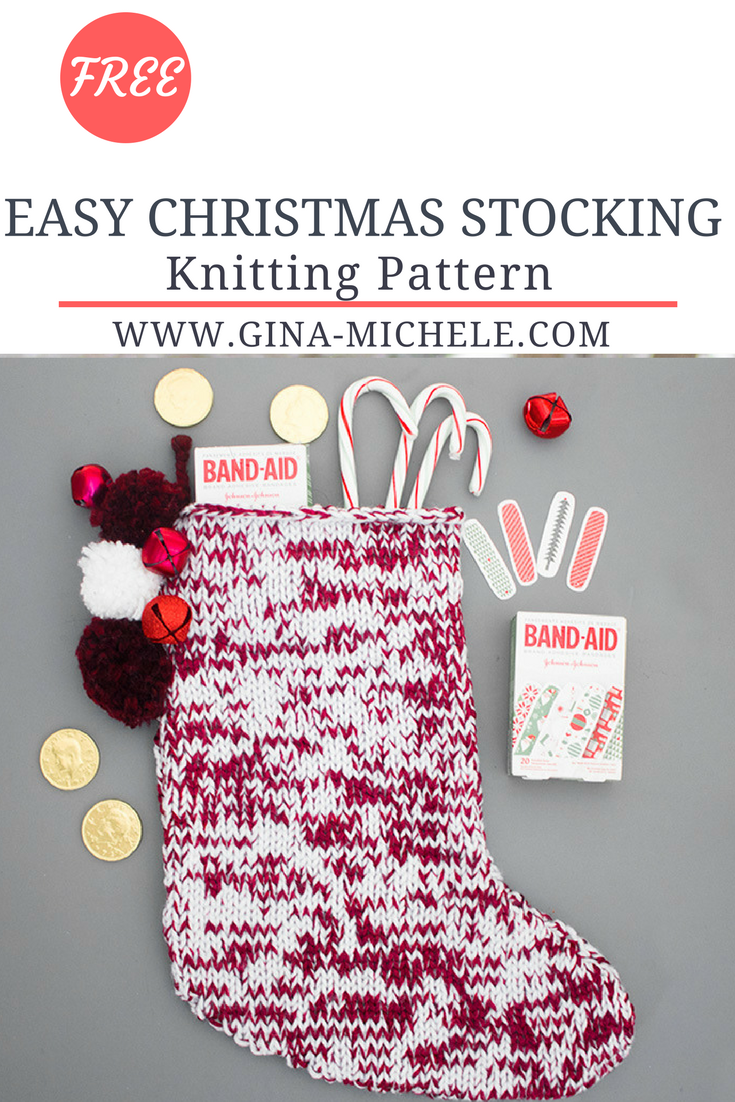 FREE knitting pattern for this Easy Christmas Stocking! #AD ...
