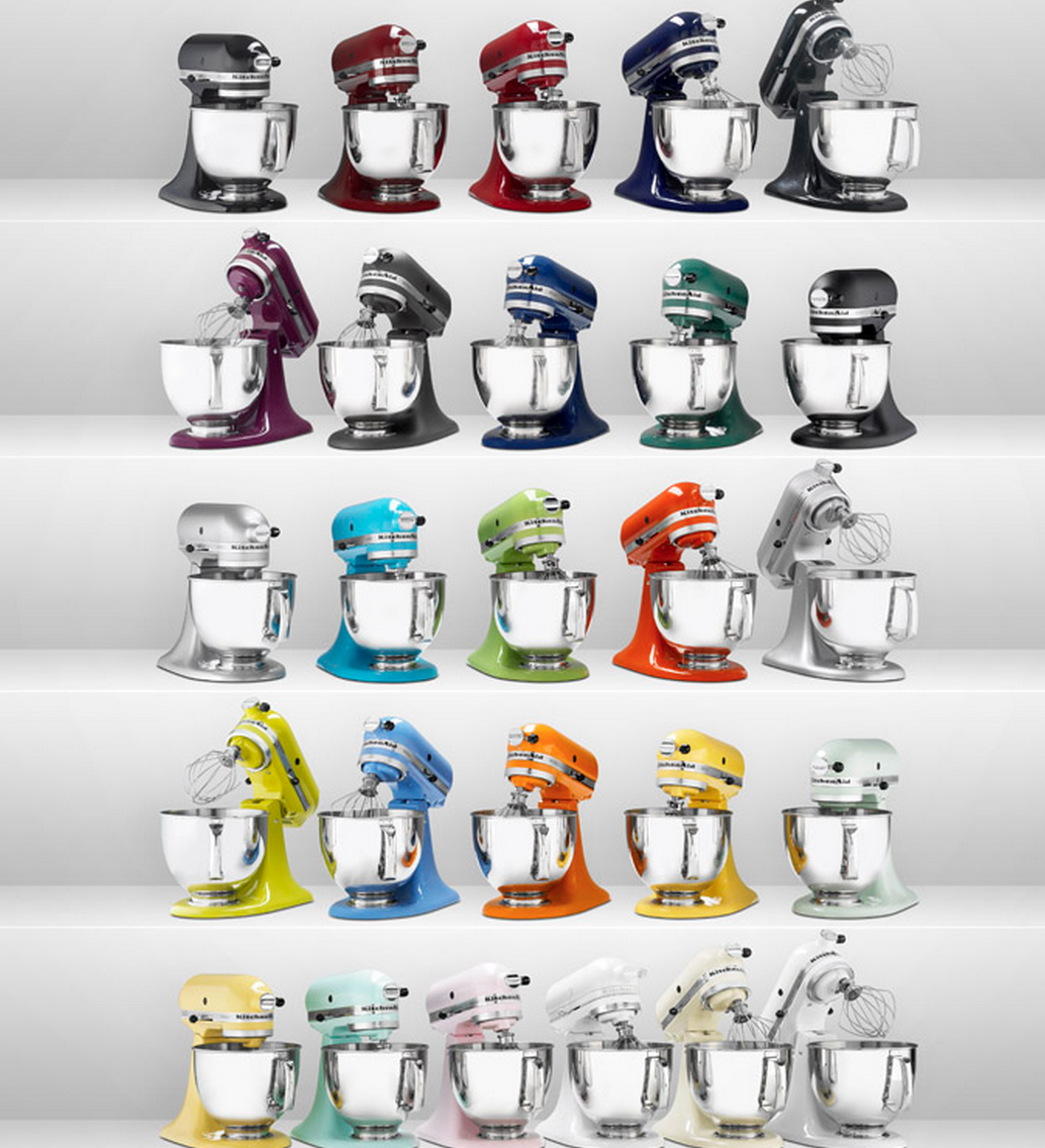 New stand mixer colors introduced this year include Teal Truffle