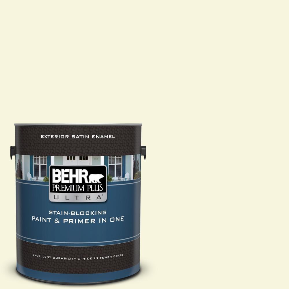 Behr Premium Plus Ultra 1 Gal W B 420 White Hydrangea Satin