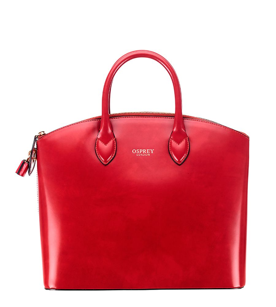 Osprey London The Avery Grab Bag Handsched In Hand Coloured Italian Polished Calf