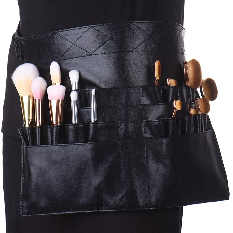 Eye Shadow Applicator Beauty & Health Makeup-brush Black Holder Bag Apron Belt Professional Make Up Brushes Artist Belt Strap Professional Pvc Protable Make Up Bag