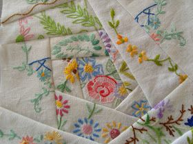 Hello all. So nice of you to pop by. Do you remember my vintage linen scraps that I showed you last time? Well I can show what I did with ...