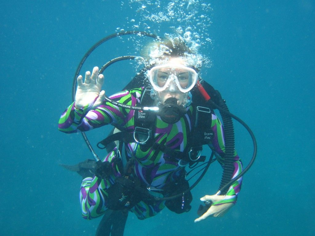 want to try scuba diving   just so long they don't leave me