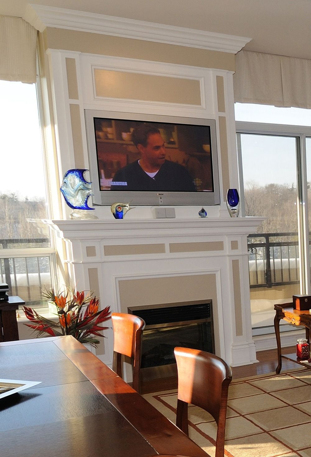 When To Mount a TV Over a Fireplace - When To Mount A TV Over A - Tv Over Gas Fireplace Fordupont Living Design