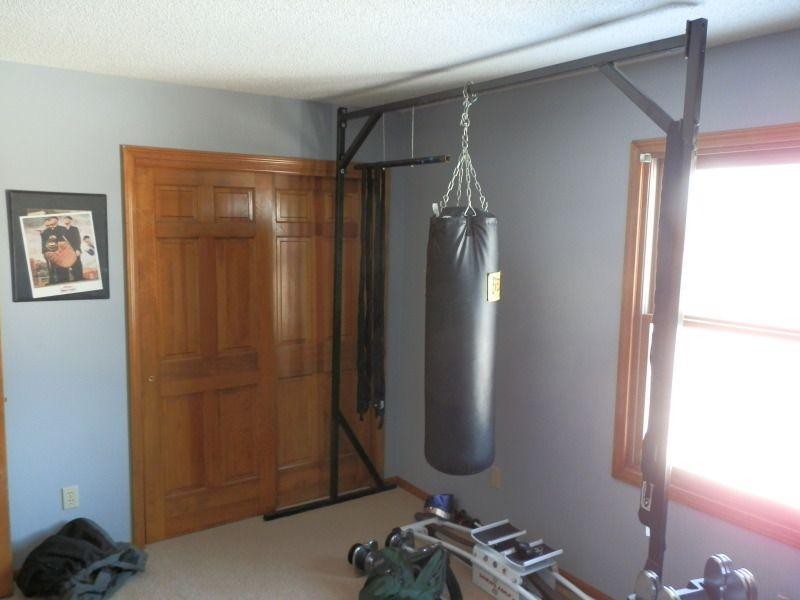 Idea For Home Made Heavy Bag Stand Home Gym Heavy Bag