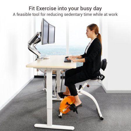 Biking Workout Foldable Exercise Bike, Stationary Desk Bike