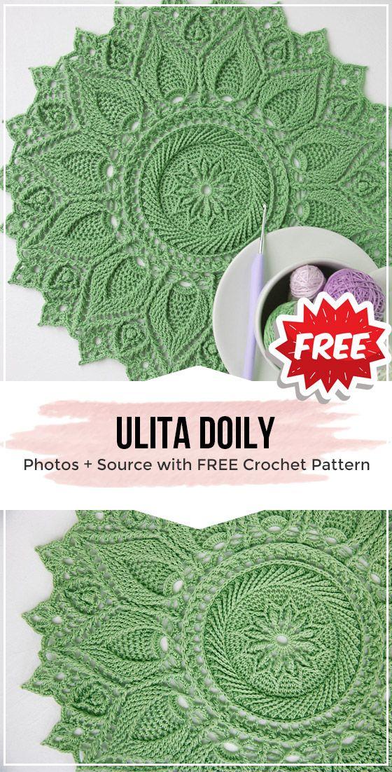 crochet Ulita Doily free pattern