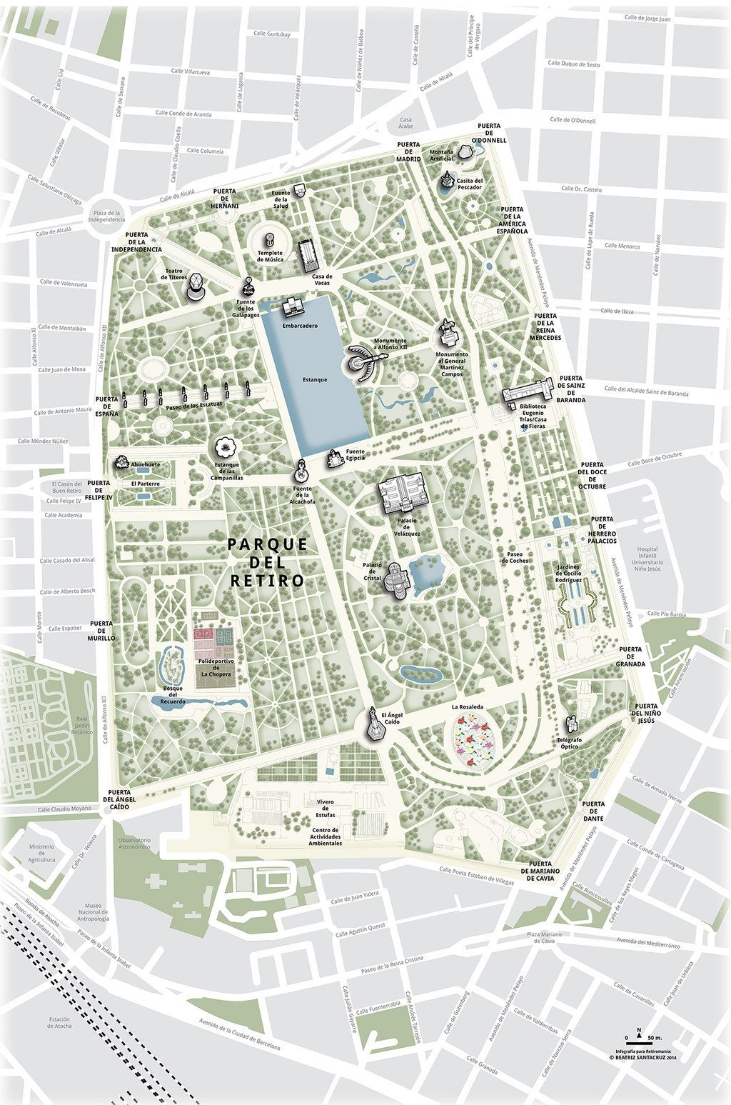 Mapa Parque Del Retiro.No Te Olvides De Dar Una Vuelta Por El Retiro Madrid