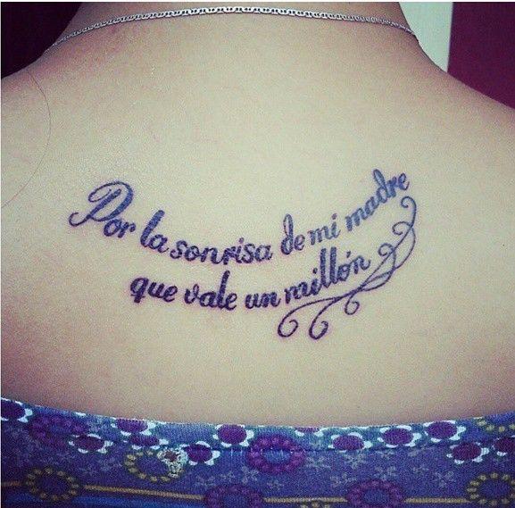 Frase Por La Sonrisa De Mi Madre Que Vale Un Millón Tatus En Mi