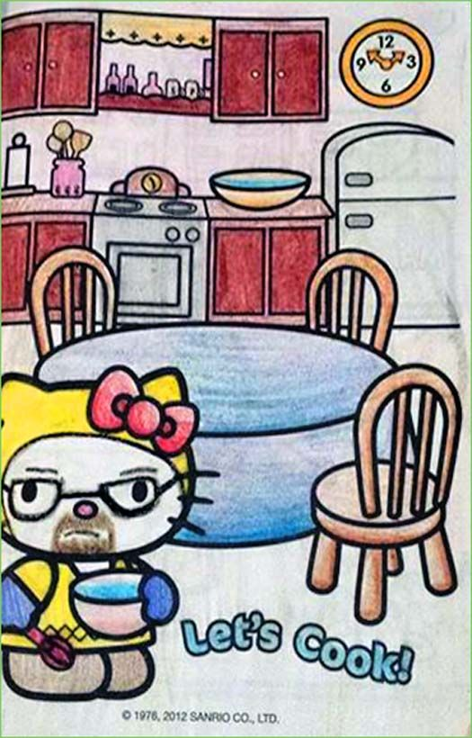 Hello Lets Get Cooking Coloring Books Funny Coloring Book Kitty