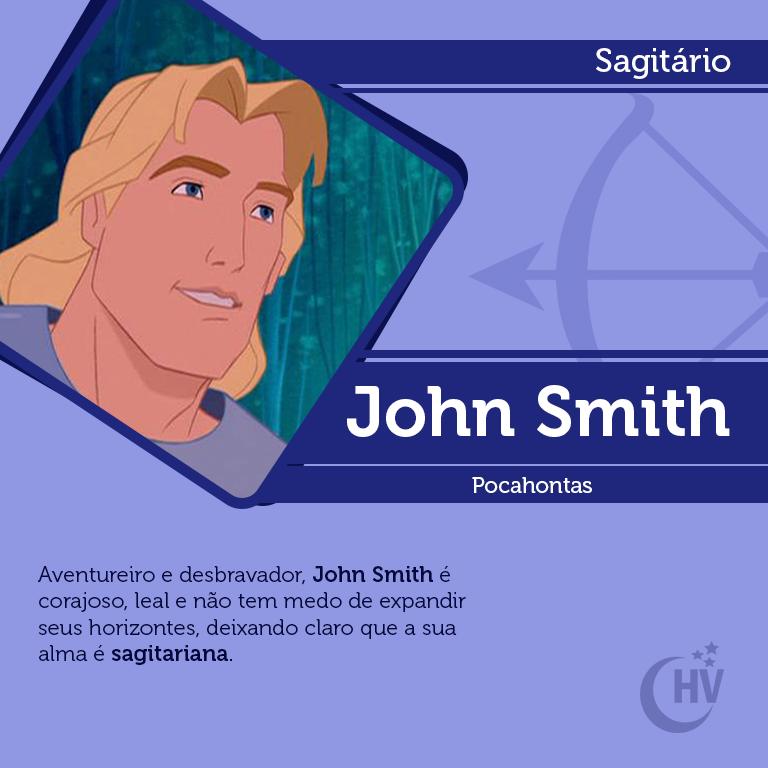 Príncipe de Sagitário. #horóscopovirtual #signos #zodíaco #sagitário #johnsmith #pocahontas