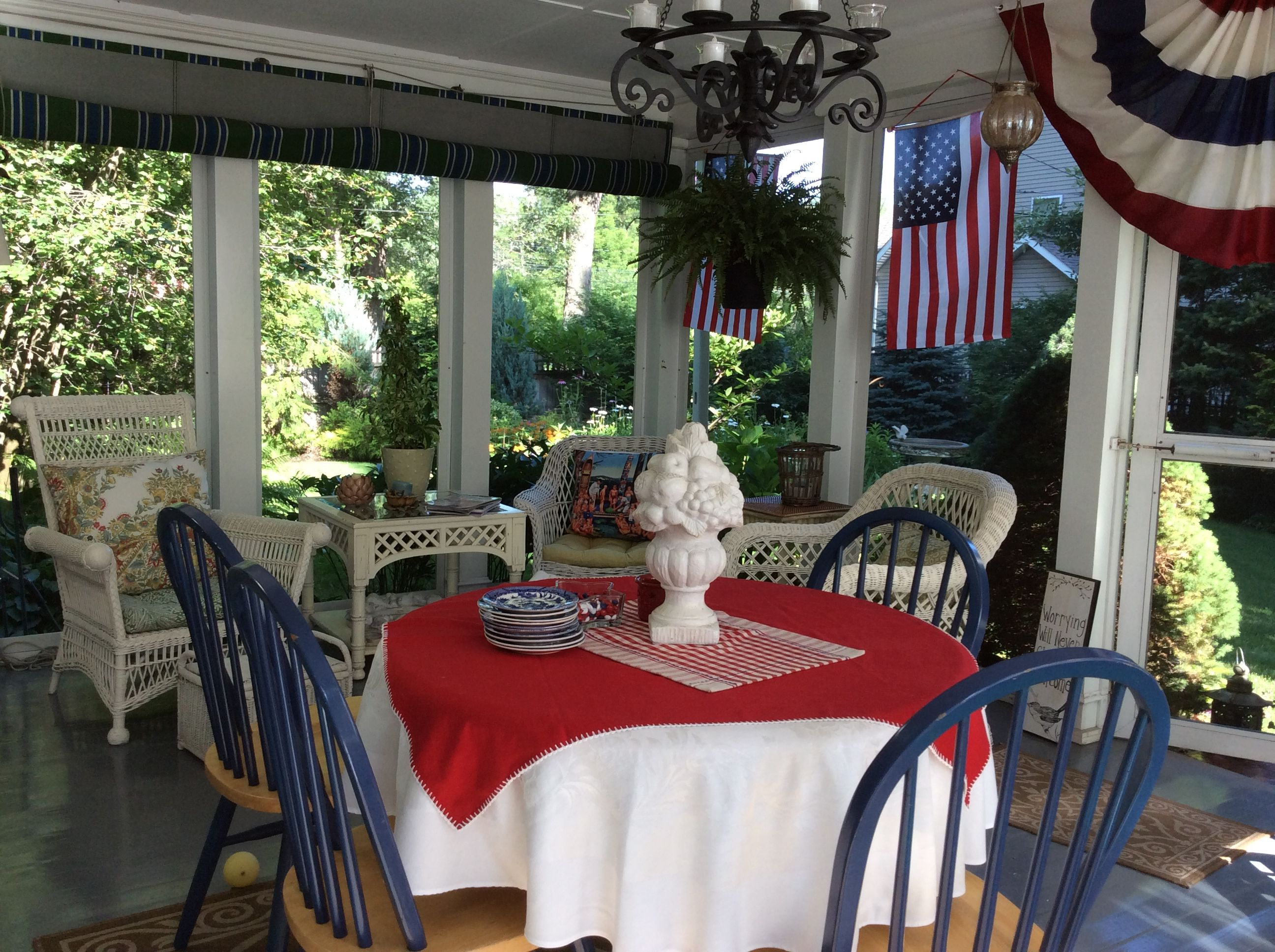 Pin by Pam Hart on 4th of July | Home decor, Decor, Table ...