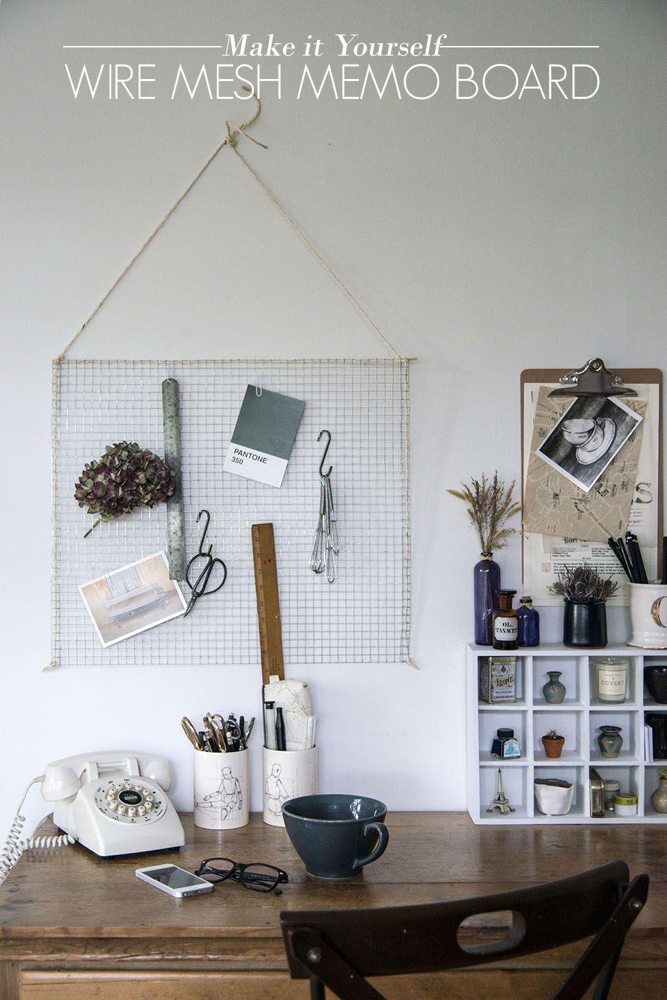 DIY Wire Mesh Memo Board | AO at Home Blog | DIY | Pinterest | Wire ...