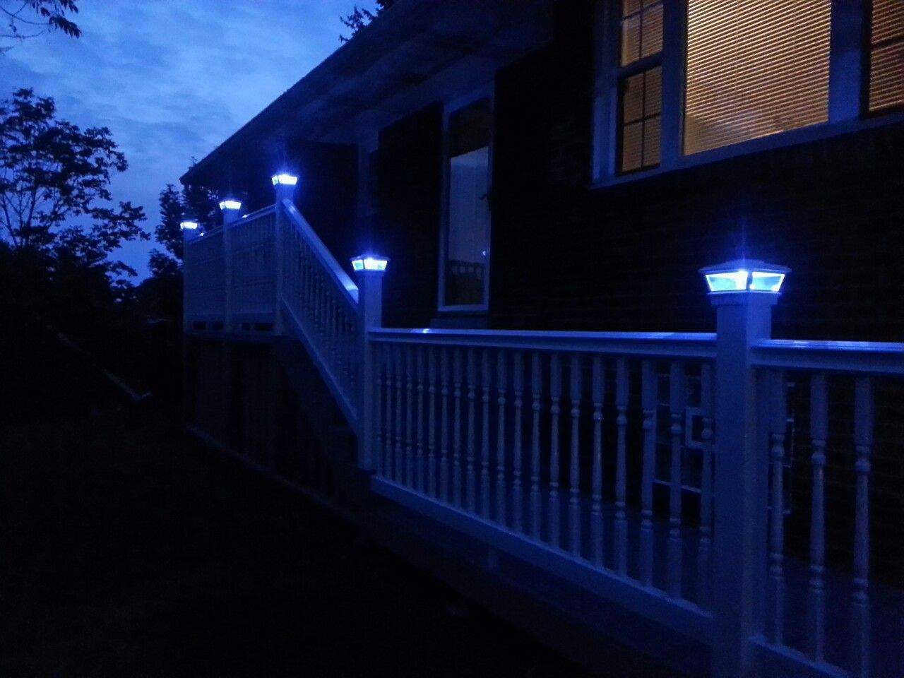 So These Are Solar Lights From Lowes On Top Of A Deck