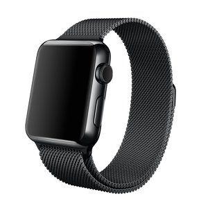 Apple-watch-bandje-milanees-zwart