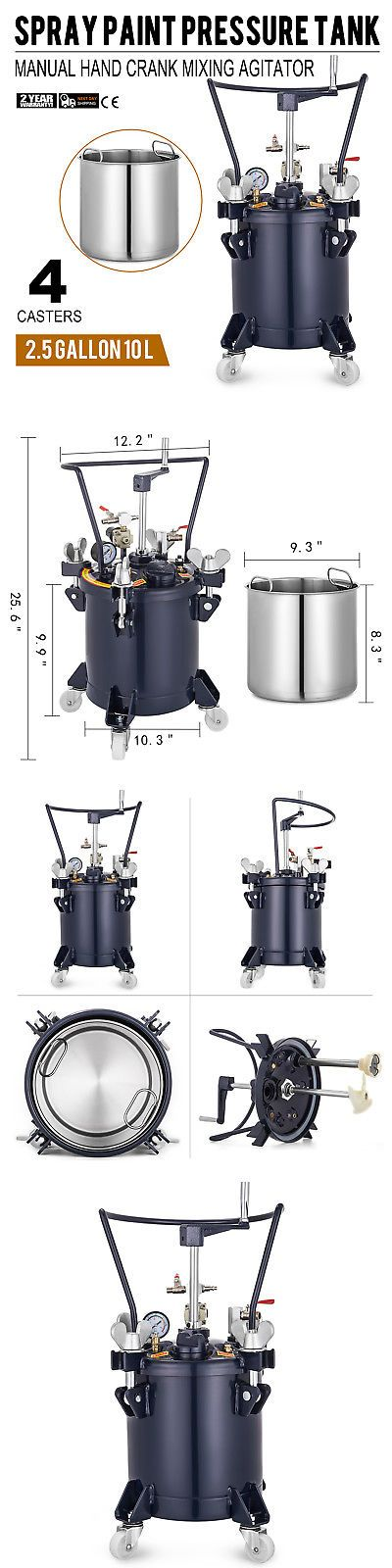 Paint Sprayers 79702 10 Liters Spray Paint Pressure Pot Tank Roll Caster 4 Casters Mixing Agitator Buy It Now Onl Paint Sprayer Pressure Pot Spray Painting